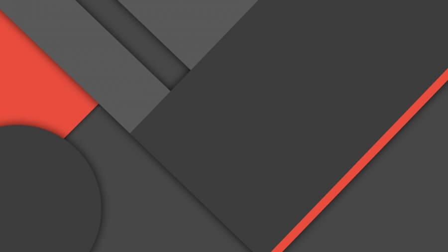 Dark Grey Red Material Design 4K Wallpaper 900x506