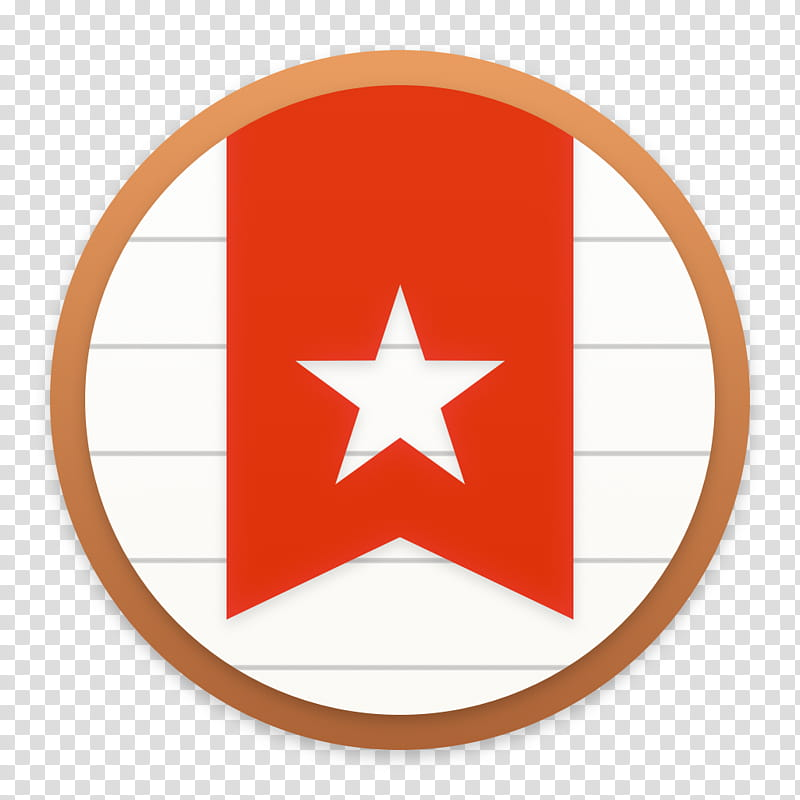 Clay OS A macOS Icon Wunderlist white and red star transparent 800x800