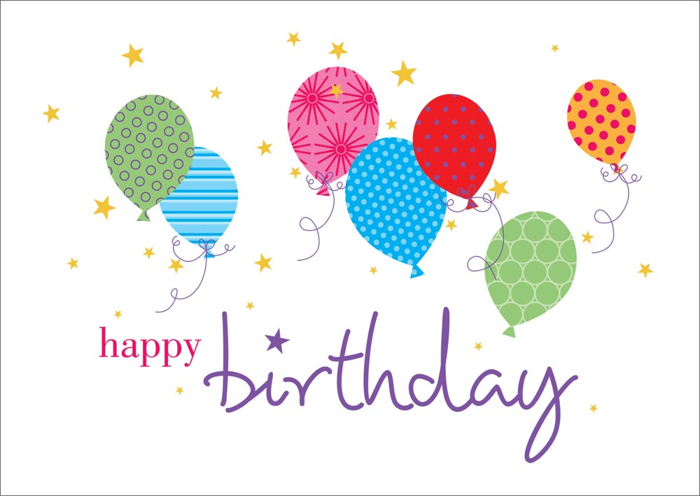 All Occasion Cards Birthday Cards Wallpaper Balloons Birthday Card 1000x709