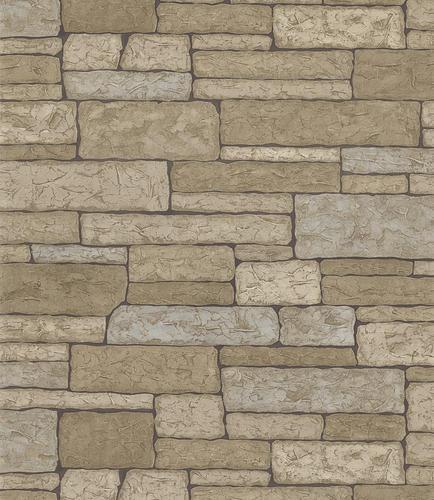 Stone Brick Wallpaper Roll at Menards 434x500