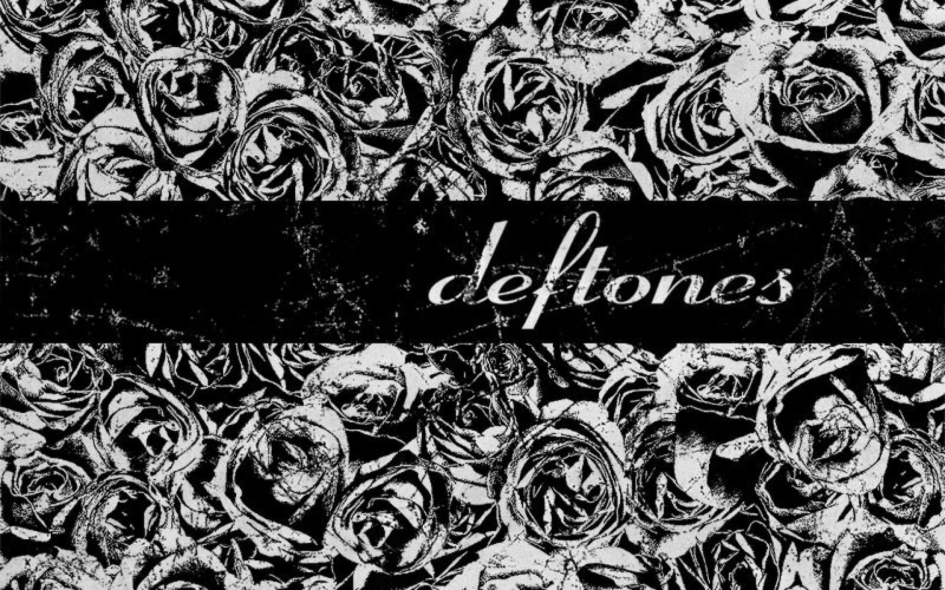 Grunge deftones grayscale roses wallpaper 40524 1920x1200