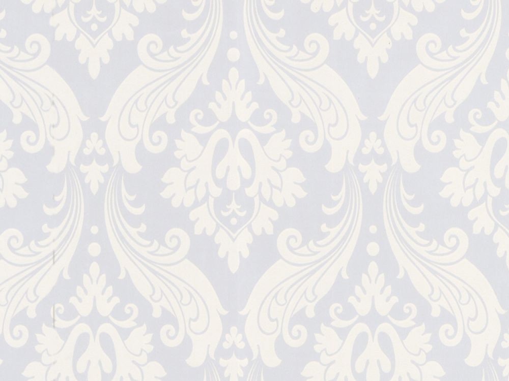 Delivery on Kelly Hoppen Vintage Flock Pure White Damask Wallpaper 1000x750