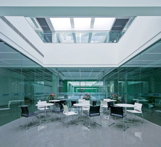 Jinqiao 21 Office Space Cube Design Lab designdotfr 530x485