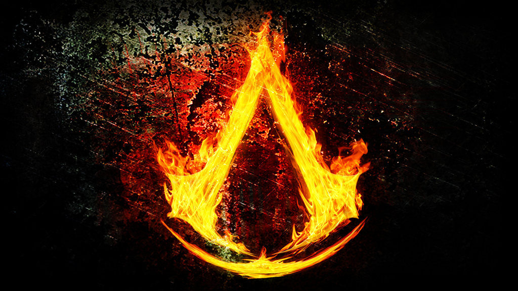 Assassins Creed Logo Fire by ThunderboltMmo 1024x576