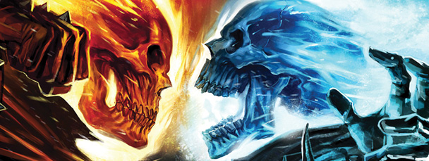 Gallery Ghost Rider Blue Flame Wallpaper 608x229