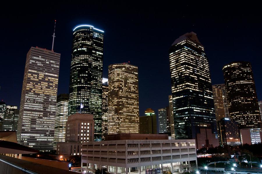 Houston Skyline at Night by hhjr 900x599