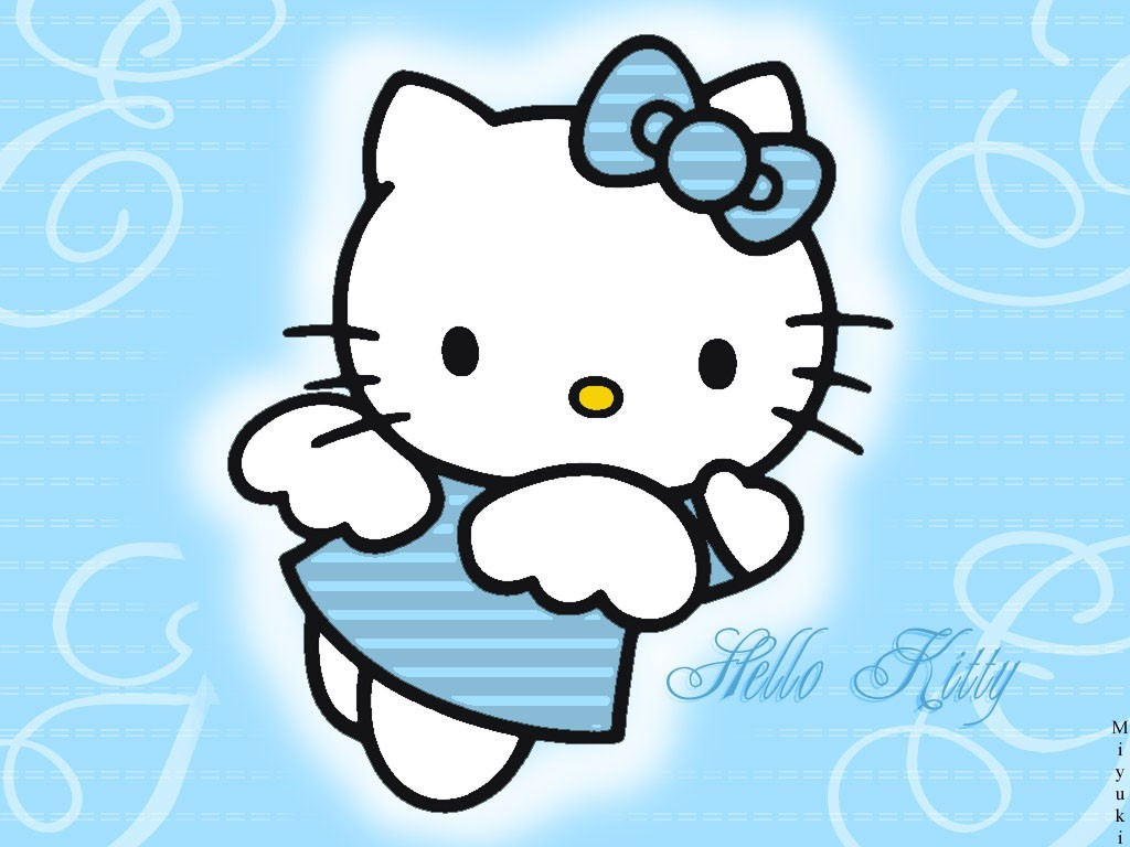 Hello Kitty Blue 1024x768
