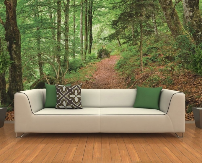 Fascinating Removable Wall Murals Forest Wall Mural Ideas Living Room 684x553