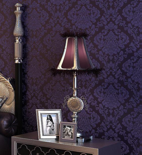 Dark Purple DamaskEmbossed Textured Background Wallpaper Wall Paper 564x616