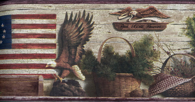 And Brown Lodge Eagles Wallpaper Border Roll   Rustic   Wallpaper 640x336