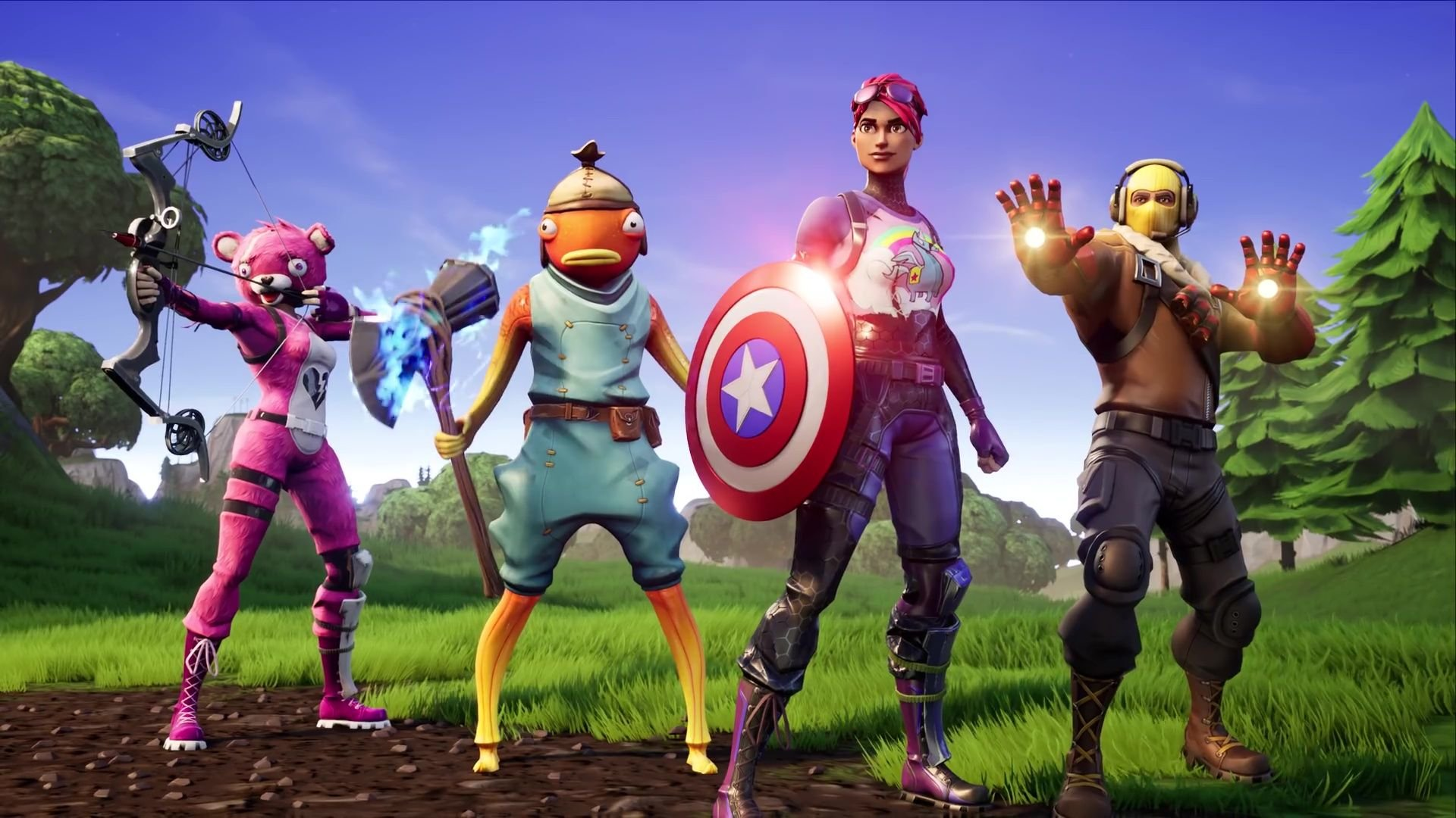 Fortnite lets you fight Thanos with Avengers weapons 1920x1080