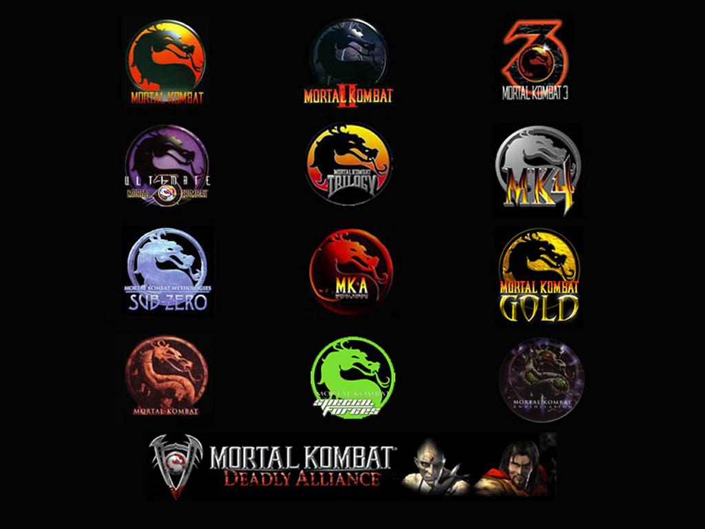 Mortal Kombat Logo 38013 Hd Wallpapers Background   HDesktopscom 1024x768