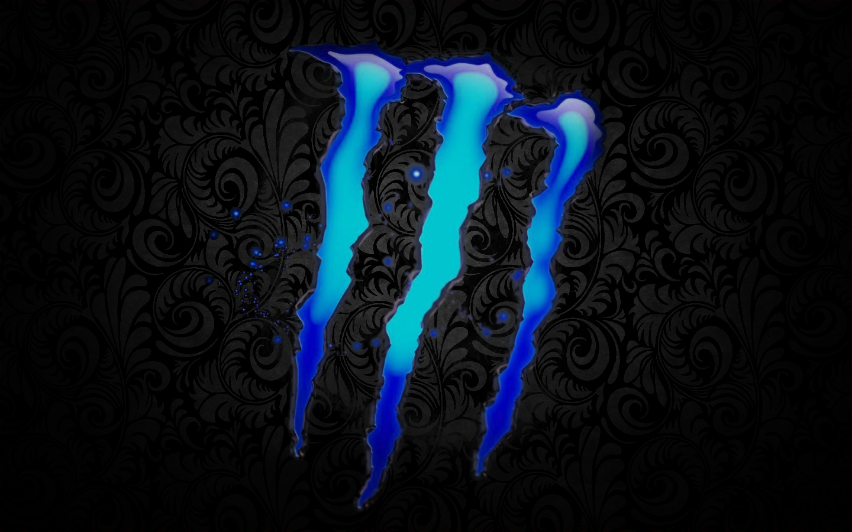 Monster Energy Wallpaper 1440x900 Monster Energy Blue Monster Logo Hd 1440x900