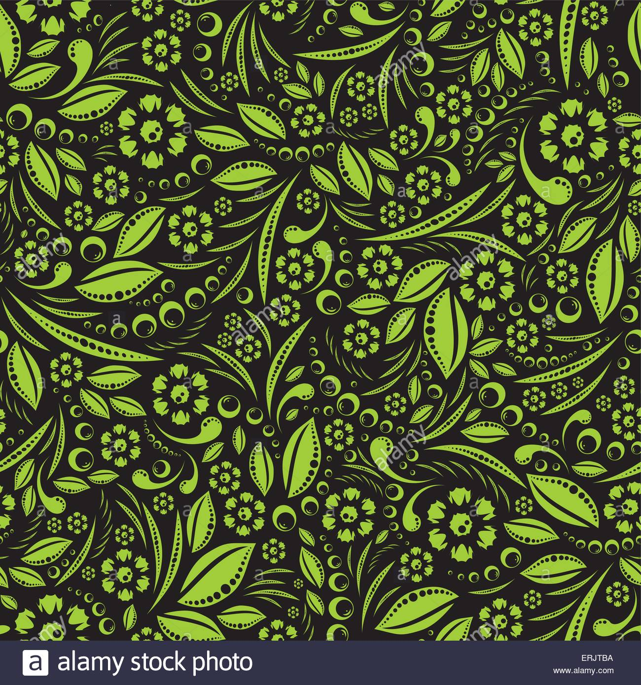 Seamless vector wallpaper Green vegetation repeating pattern on a 1300x1390