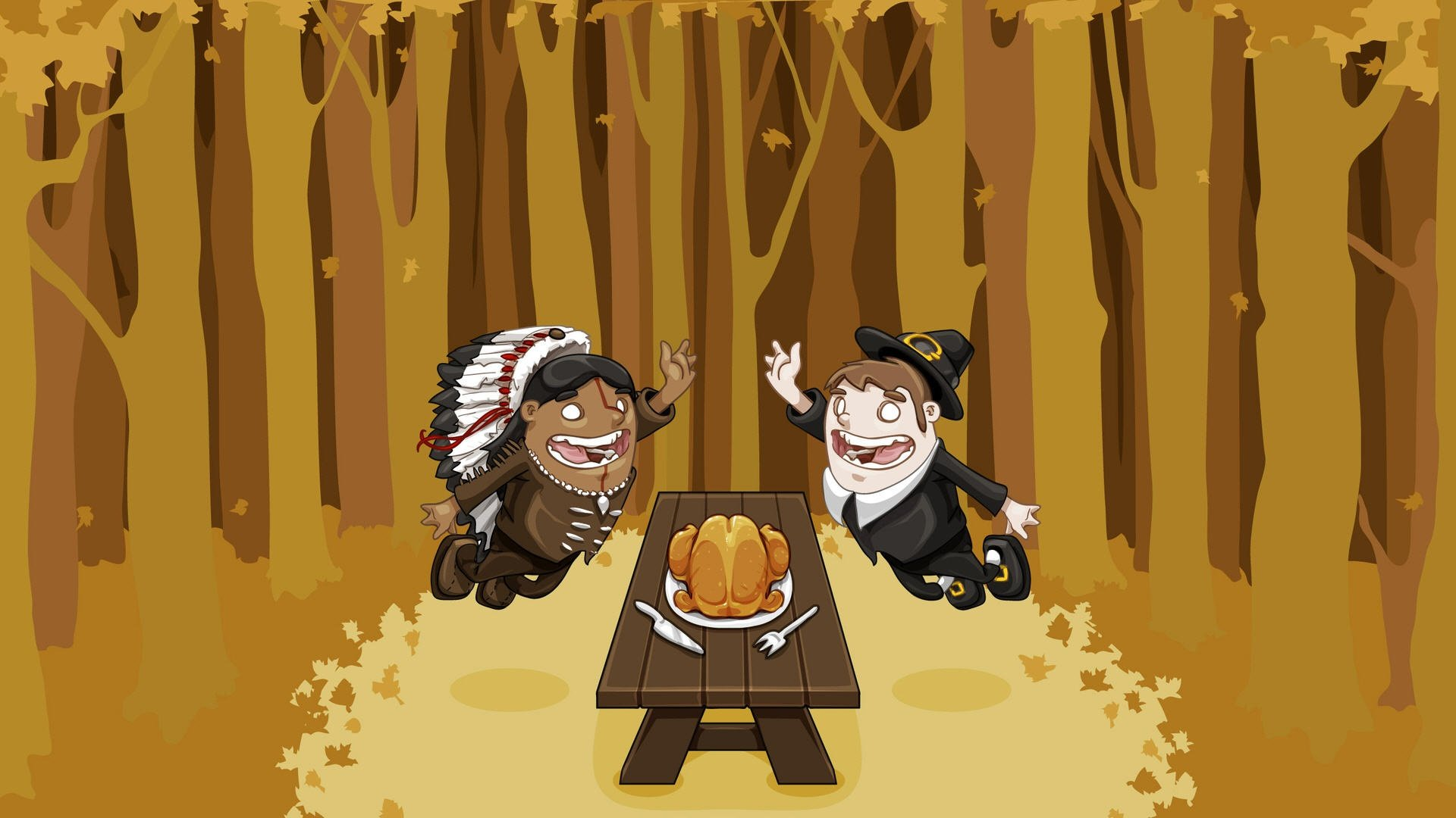 HD Funny Thanksgiving Backgrounds 1920x1080
