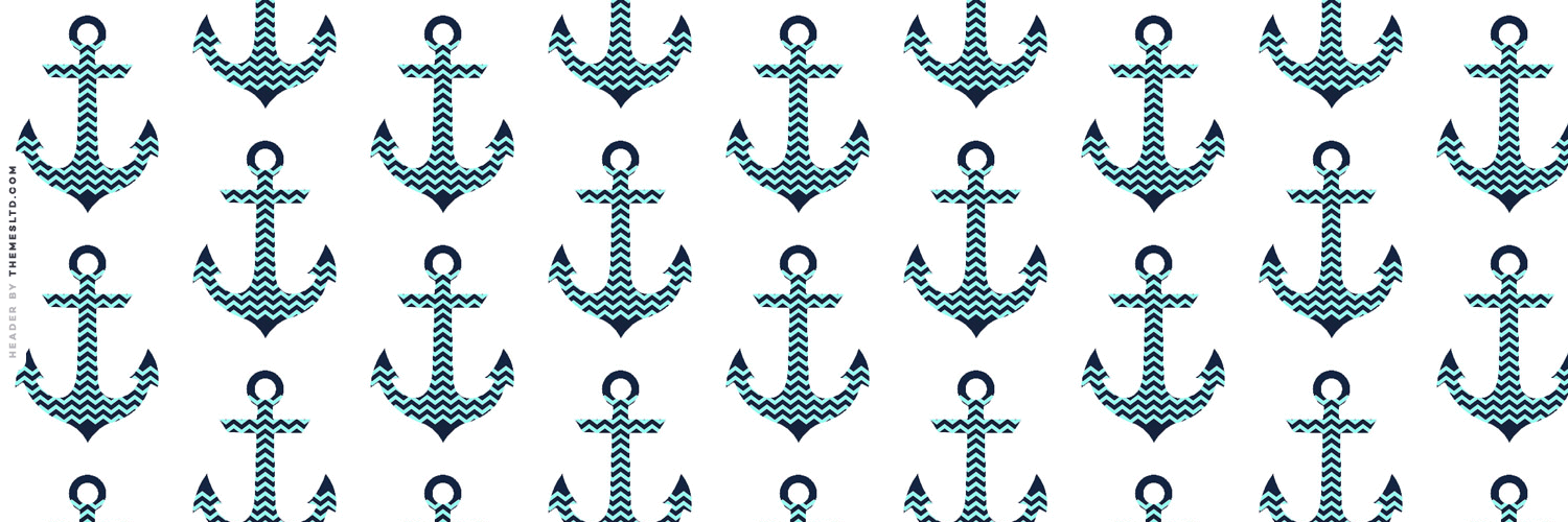 Blue Zig Zag Anchors Askfm Background   Hipster Wallpapers 1500x500