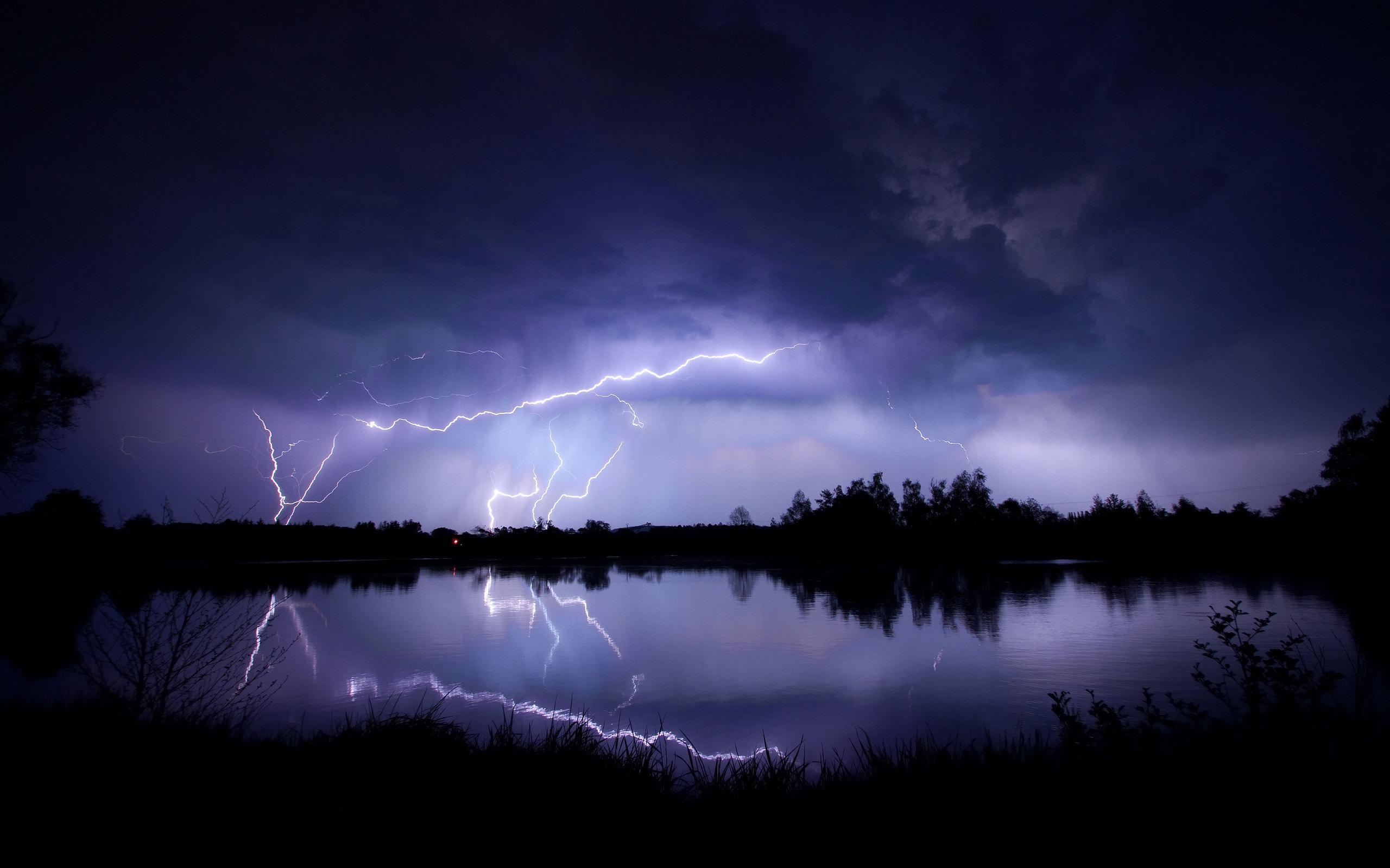Animated Lightning Storm Wallpaper