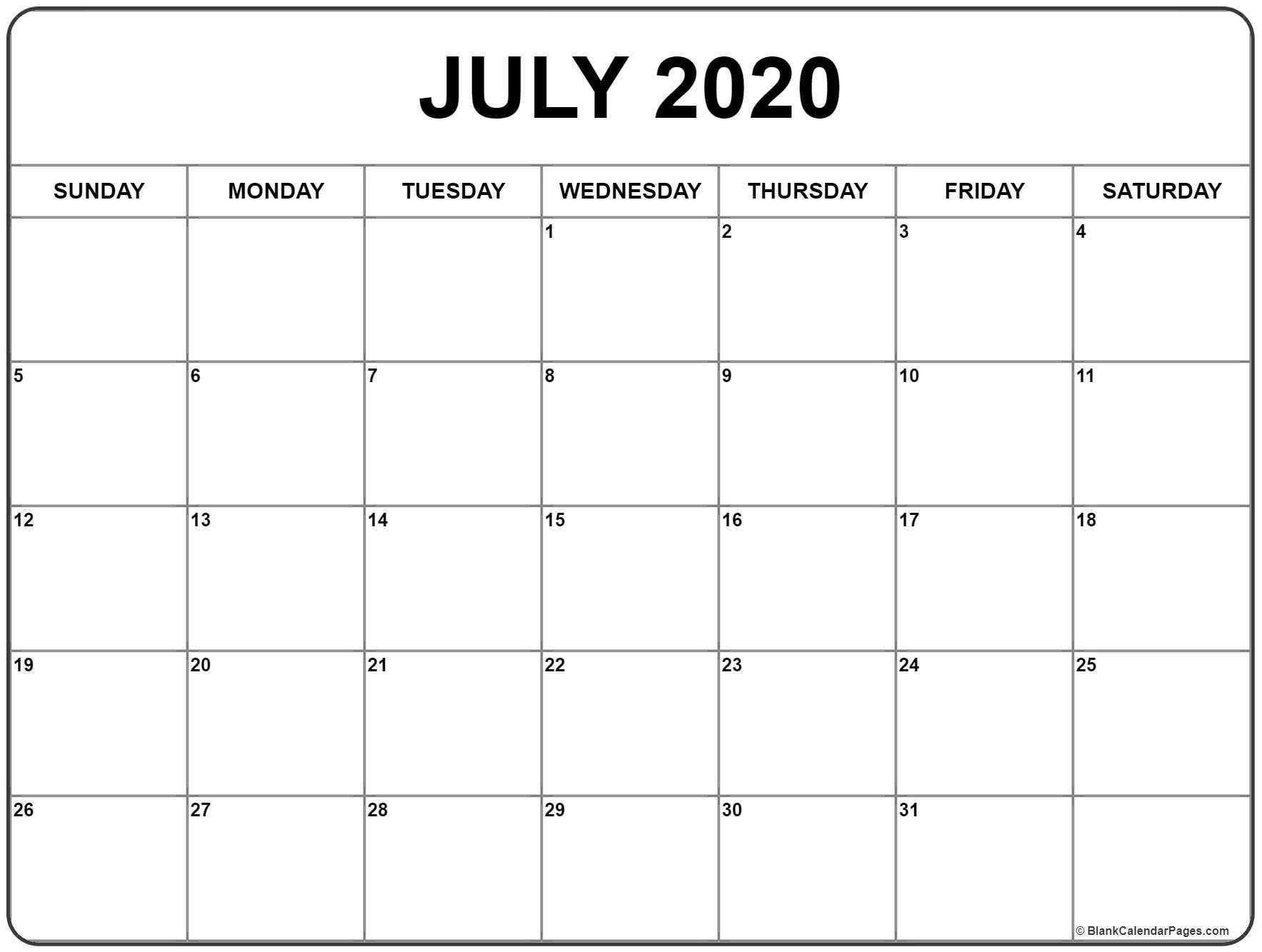 July 2020 calendar January calendar Blank calendar 1767x1333