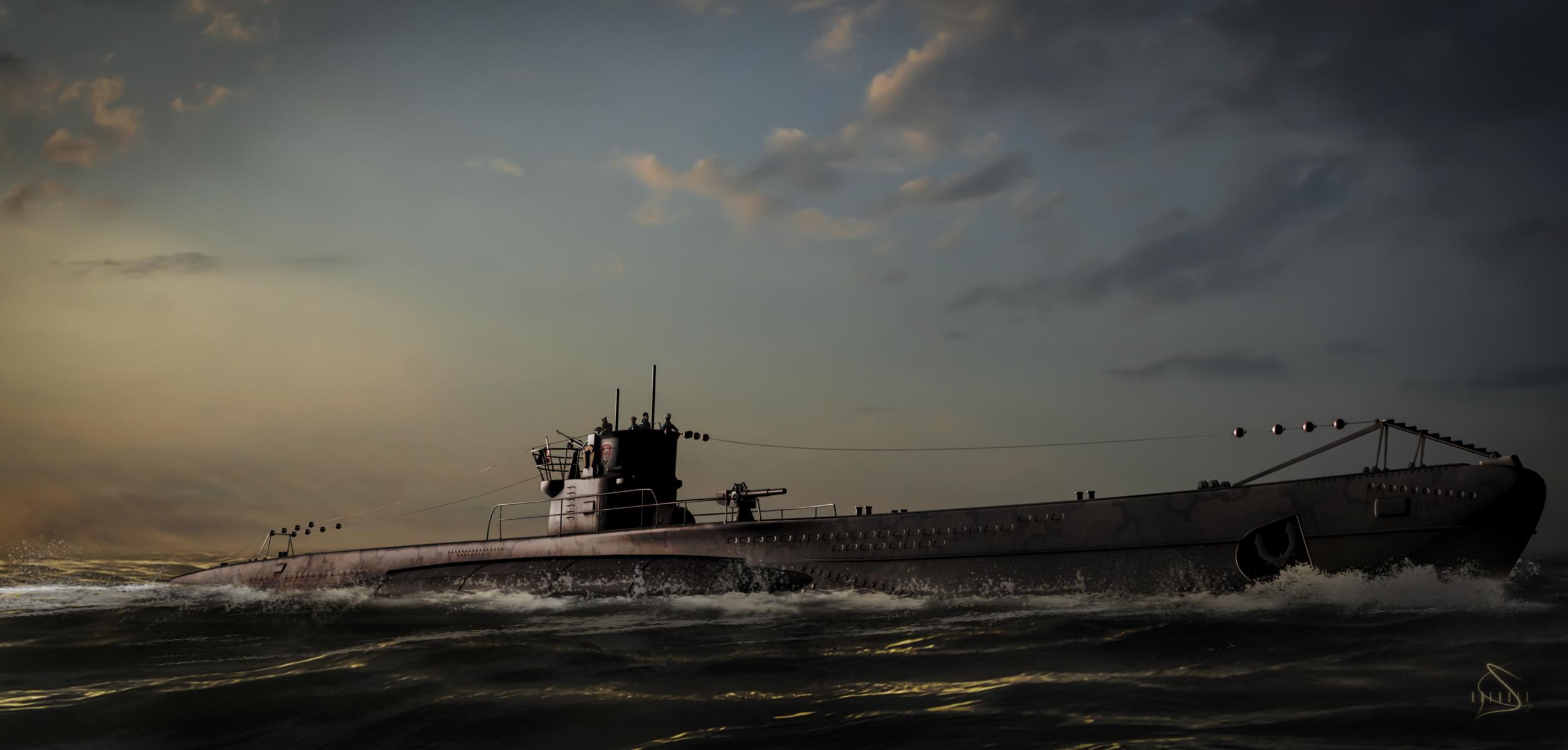 Military   Submarine Wallpaper 2500x1196