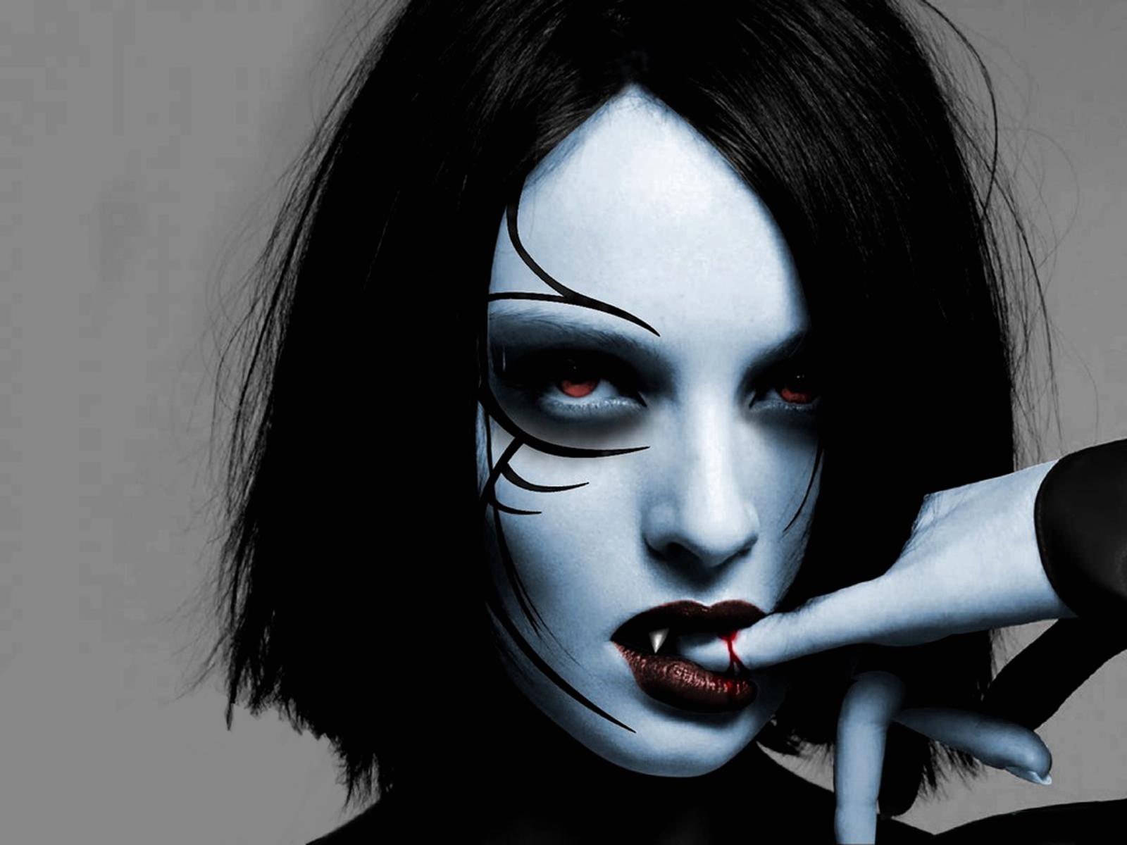 Dark horror evil vampire fantasy gothic women wallpaper 1600x1200 1600x1200