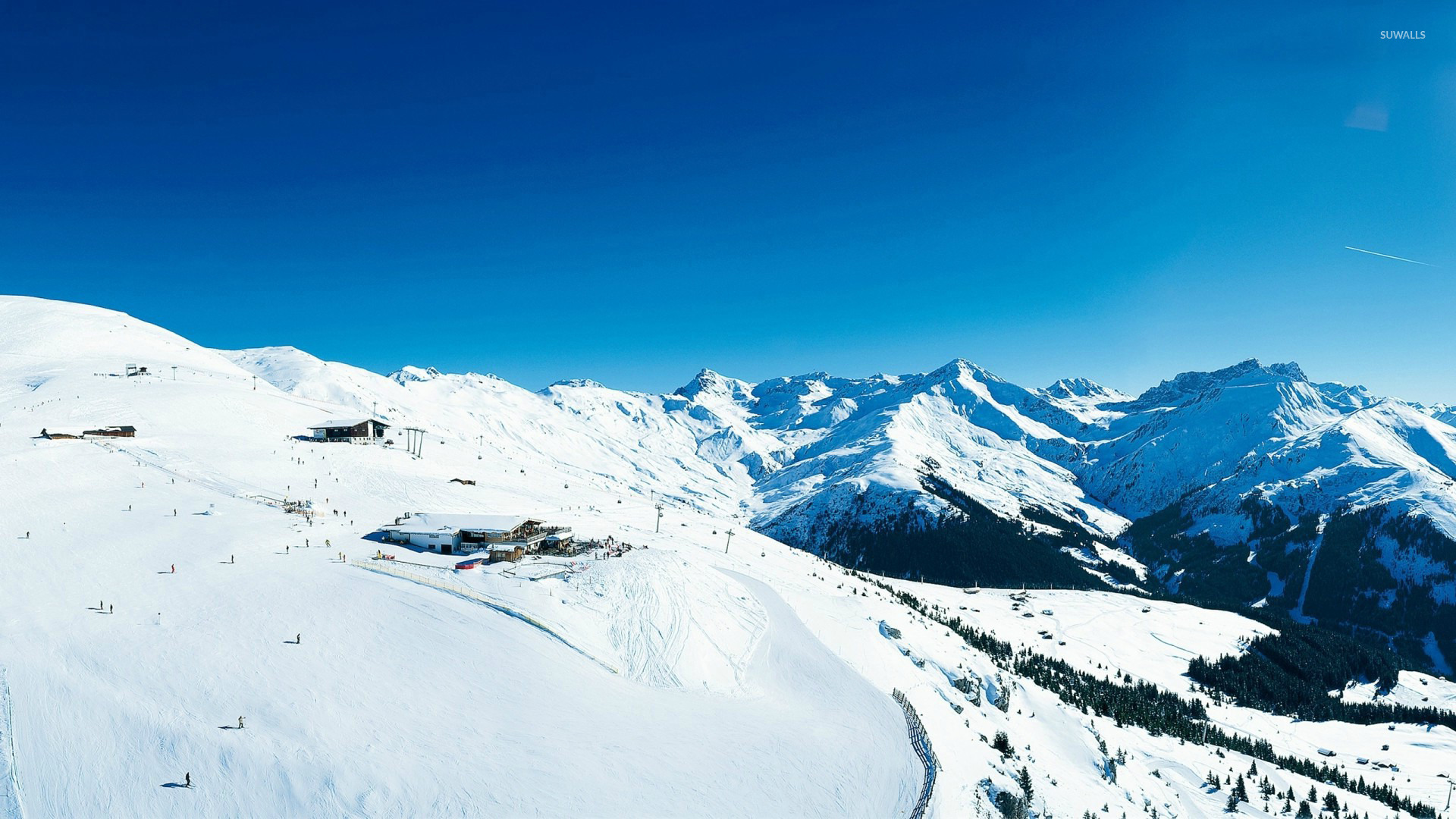 wallpapers and screensavers skiing world wallpapers trendingspace 1366x768