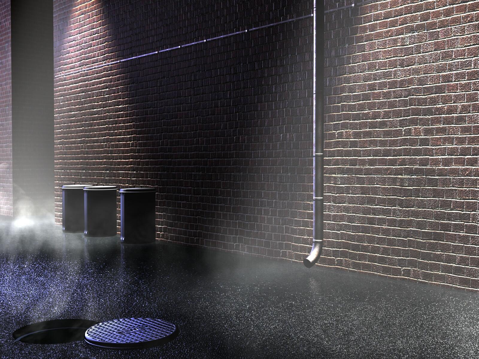 Brickwall Bin Drain   Abstract Wallpaper 1600x1200