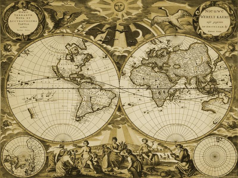 Antique Nautical Map Wallpaper