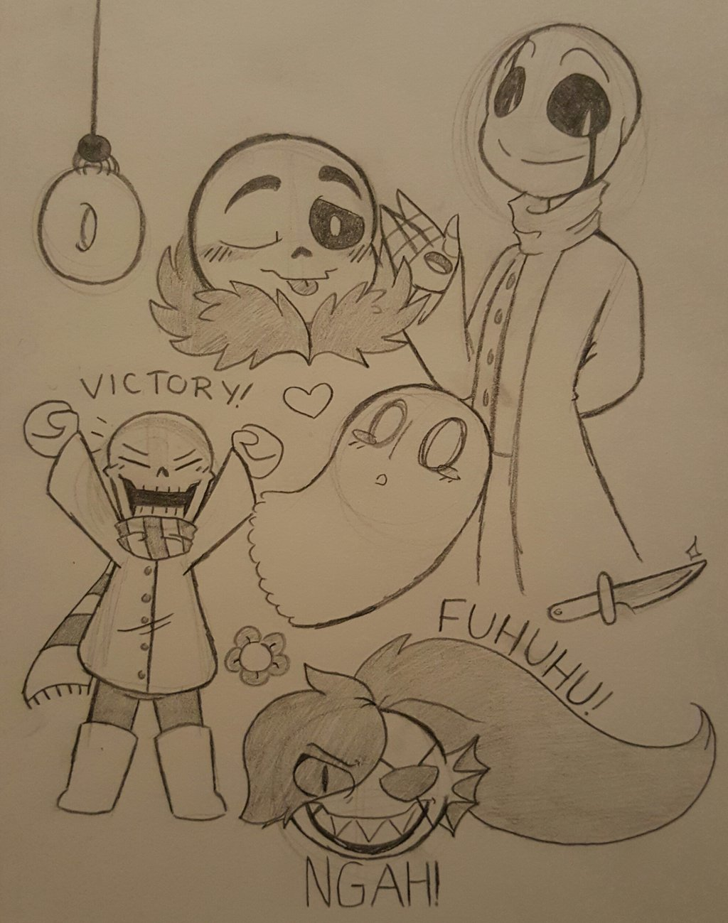 Undertale   Sketches 1 by GraceFireHearth 1024x1299