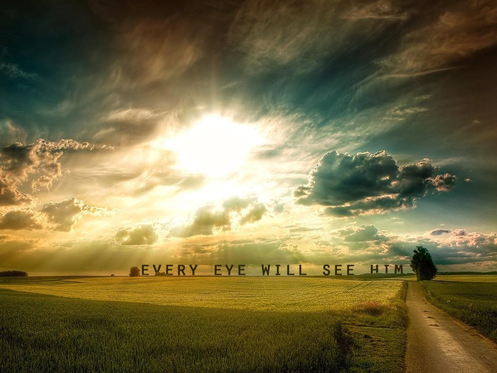 eye will see Him clouds sun light christian wallpaper hd 1024x768jpg 1024x768