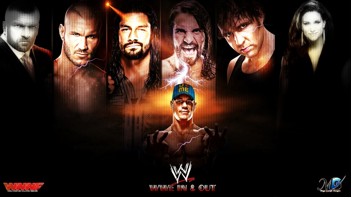 WWE IN and OUT WALLPAPER 2015 by Megagunjit 1191x670