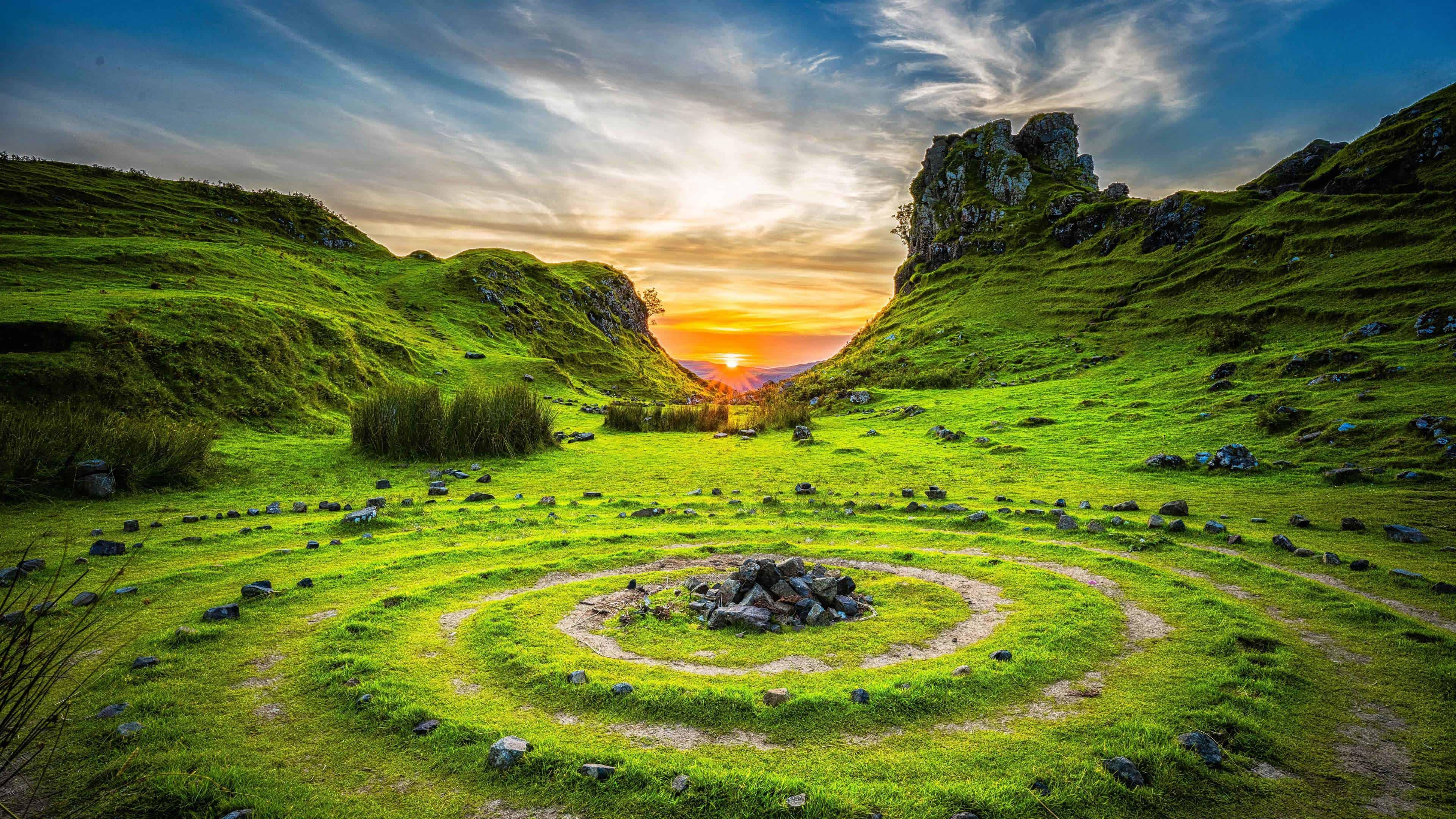 Fairy Glen Isle Of Skye Scotland UHD 4K Wallpaper Pixelz 3840x2160