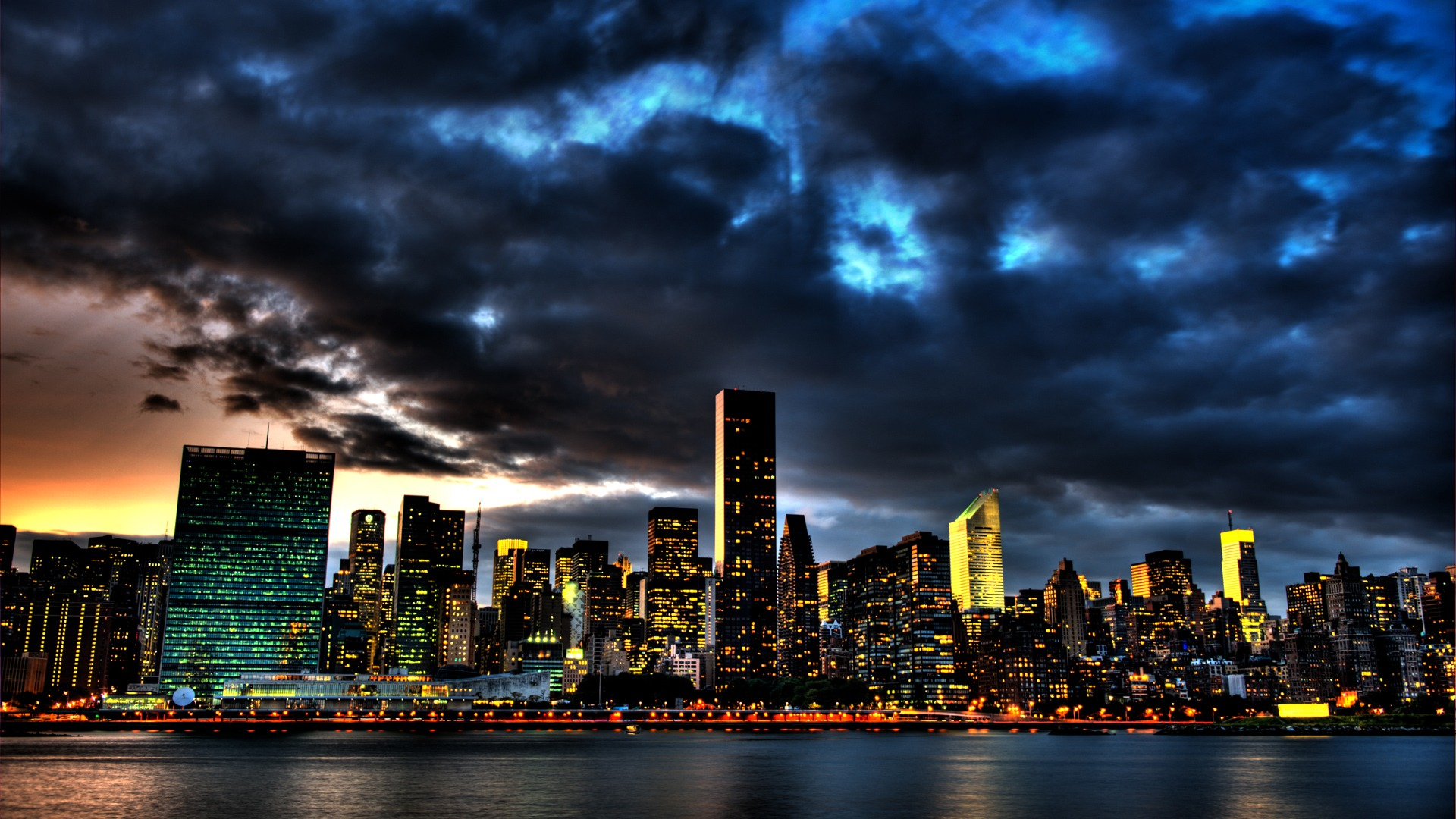 New York City Skyline 1080p Wallpaper City HD Wallpapers Wide Screen 1920x1080