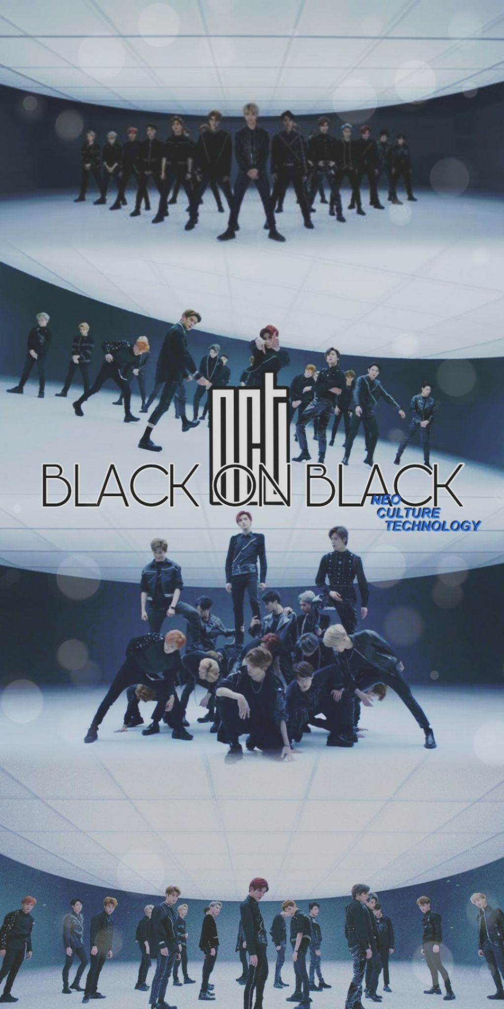 NCT BLACK ON BLACK WALLPAPER kpopedit nctwallpaper n 1024x2048