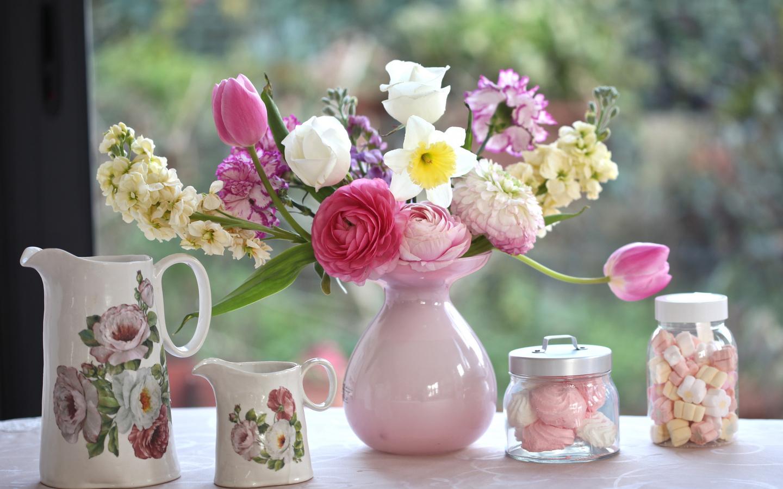 Flowers In Vase Wallpaper Wallpapersafari