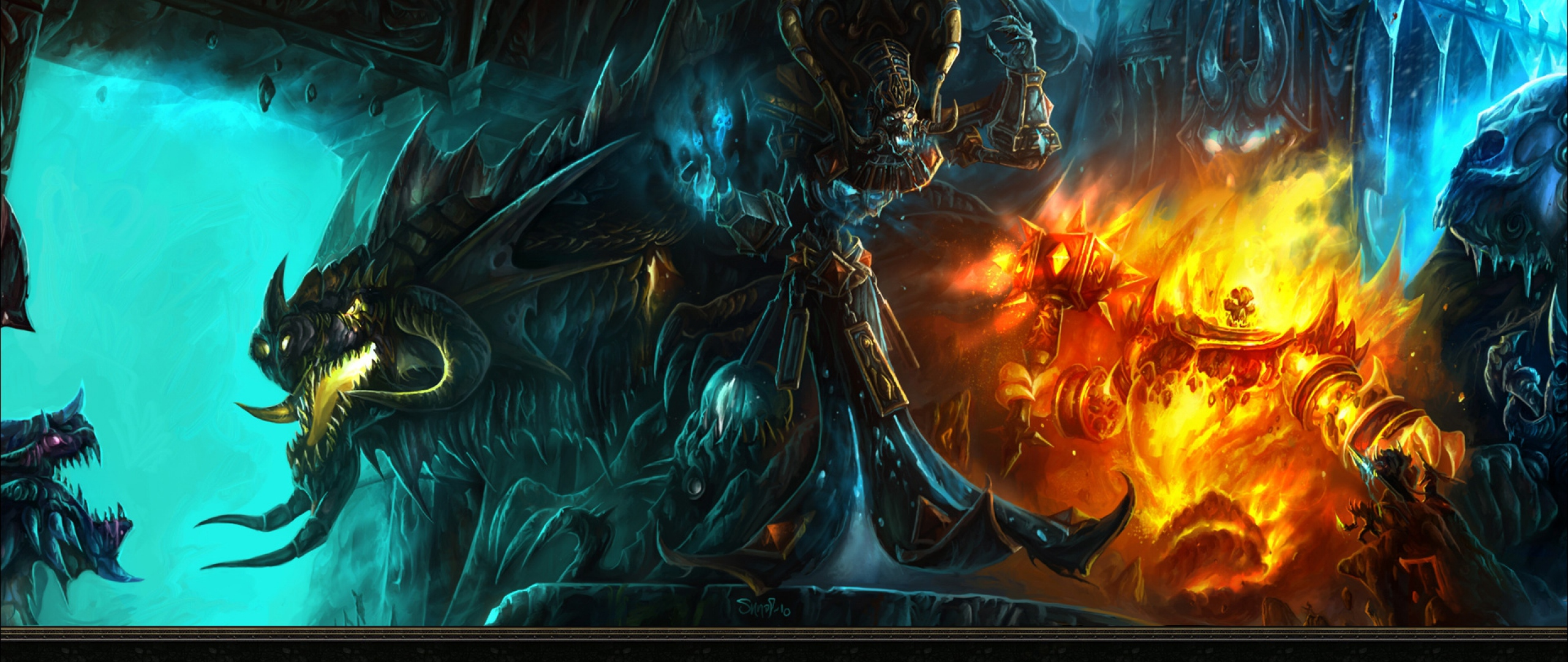 2560x1080 Wallpaper world of warcraft monsters characters game 2560x1080