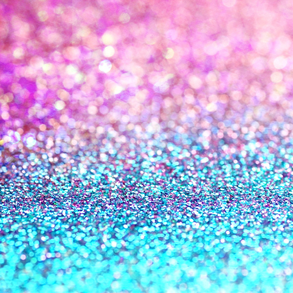 Pastel sparkle  photograph of pink and turquoise glitter Art Print by 600x600