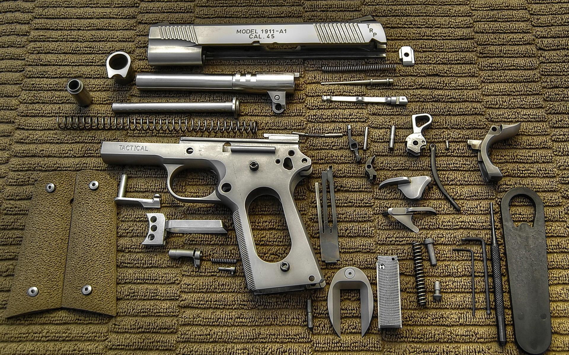 Pistols weapons colt 1911 wallpaper background 1920x1200