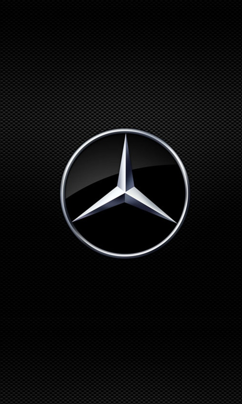 Mercedes Logo Wallpaper for 480x800