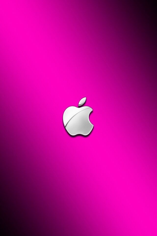 Pink Wallpaper Background Apple logo wallpaper iphone Apple 640x960