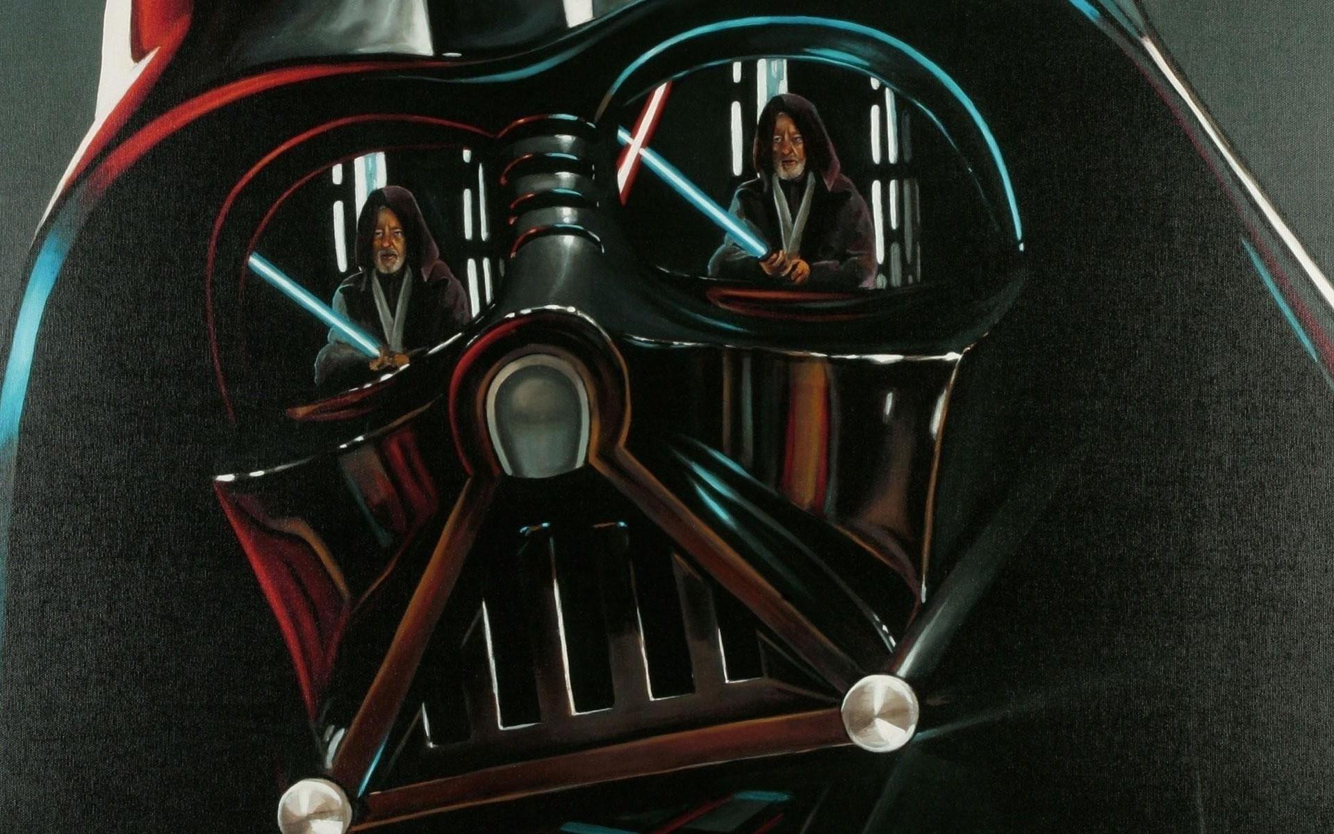 Star Wars Darth Vader Obi Wan Kenobi wallpaper background 1920x1200