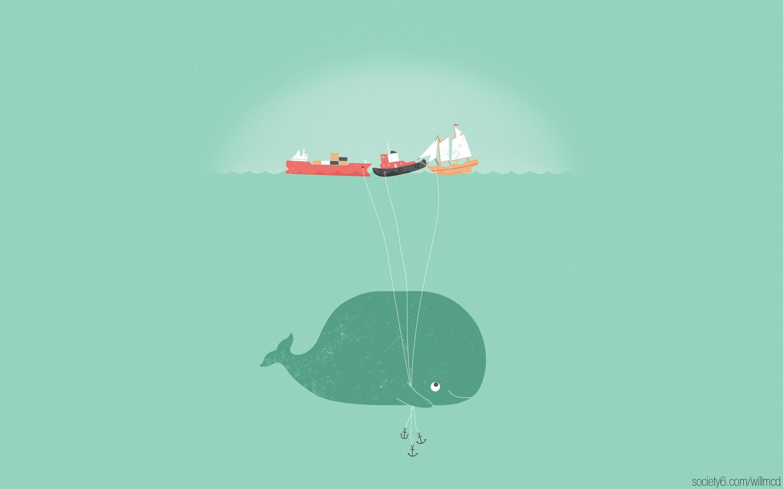 Whale HD wallpaper 2880x1800