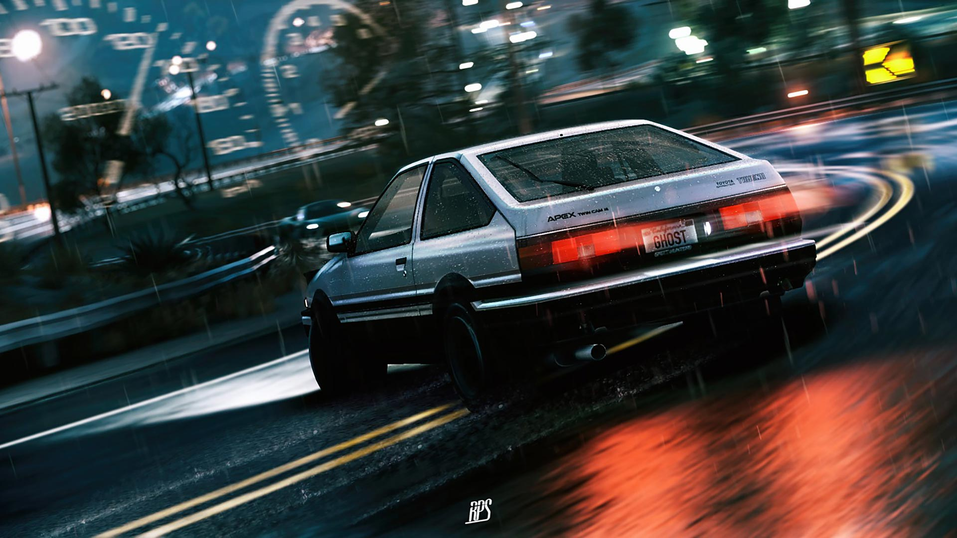 Initial D Theme for Windows 10 8 7 1920x1080