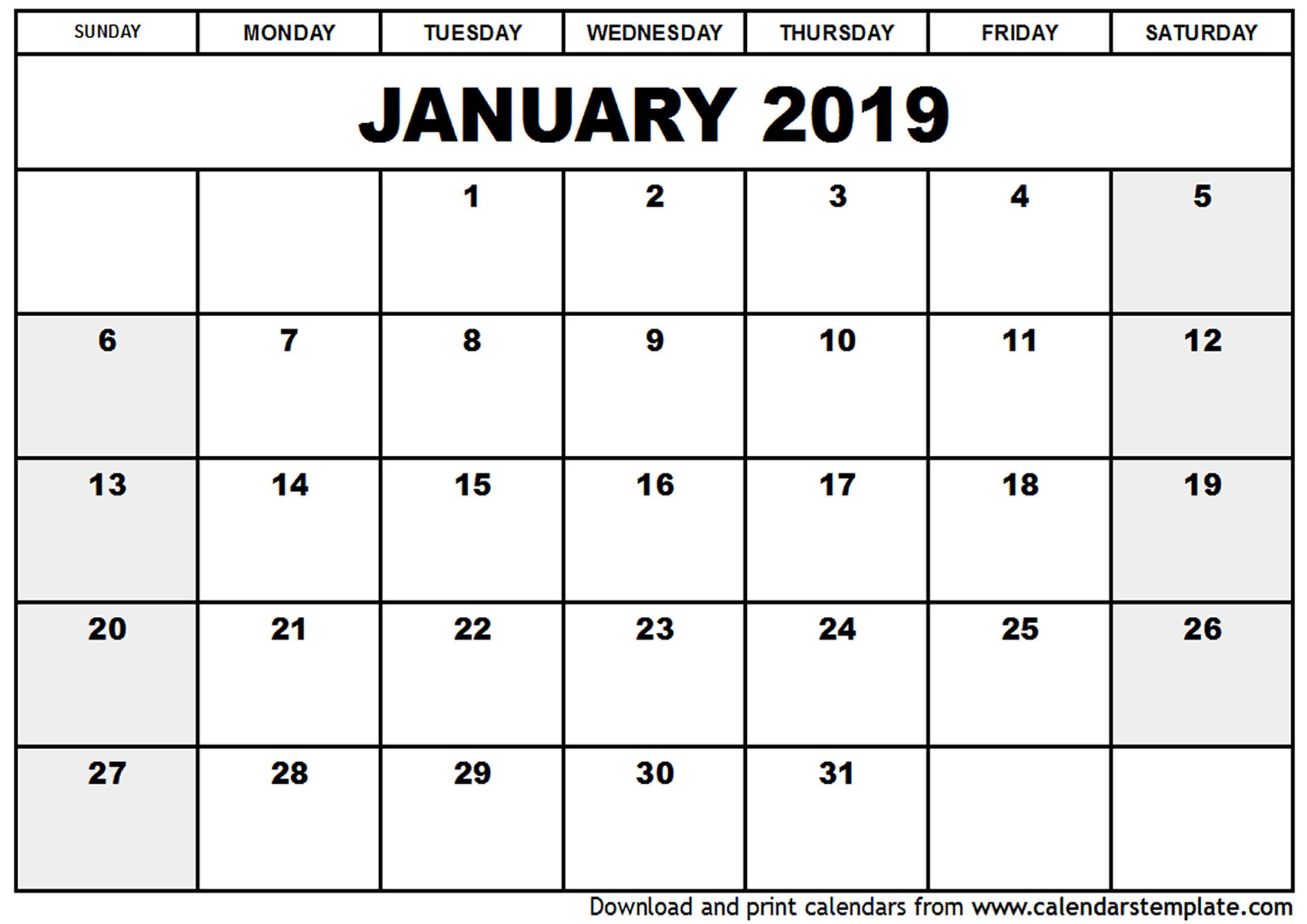 January 2019 Calendar Cute calendar for 2019 1890x1336