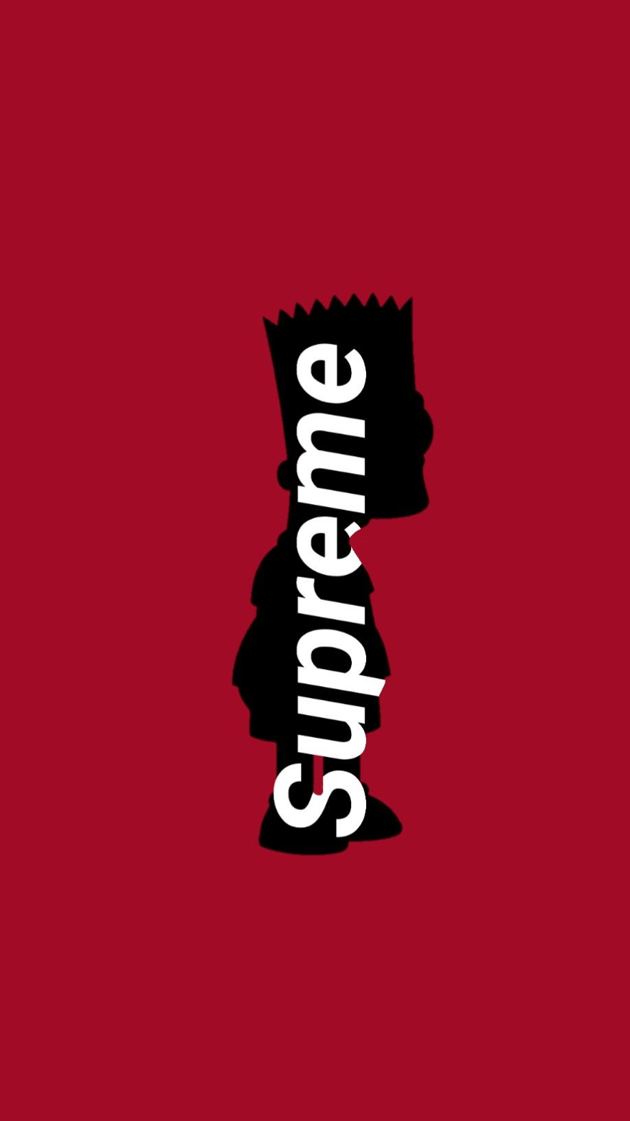 Supreme Bart Wallpaper in 2019 Hypebeast wallpaper Simpson 917x1632