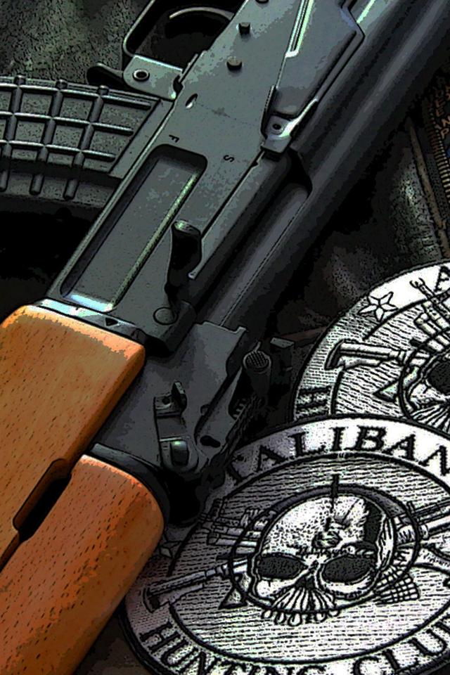 AK 47 Wallpaper for Apple iPhone 4   Hellaphone 640x960