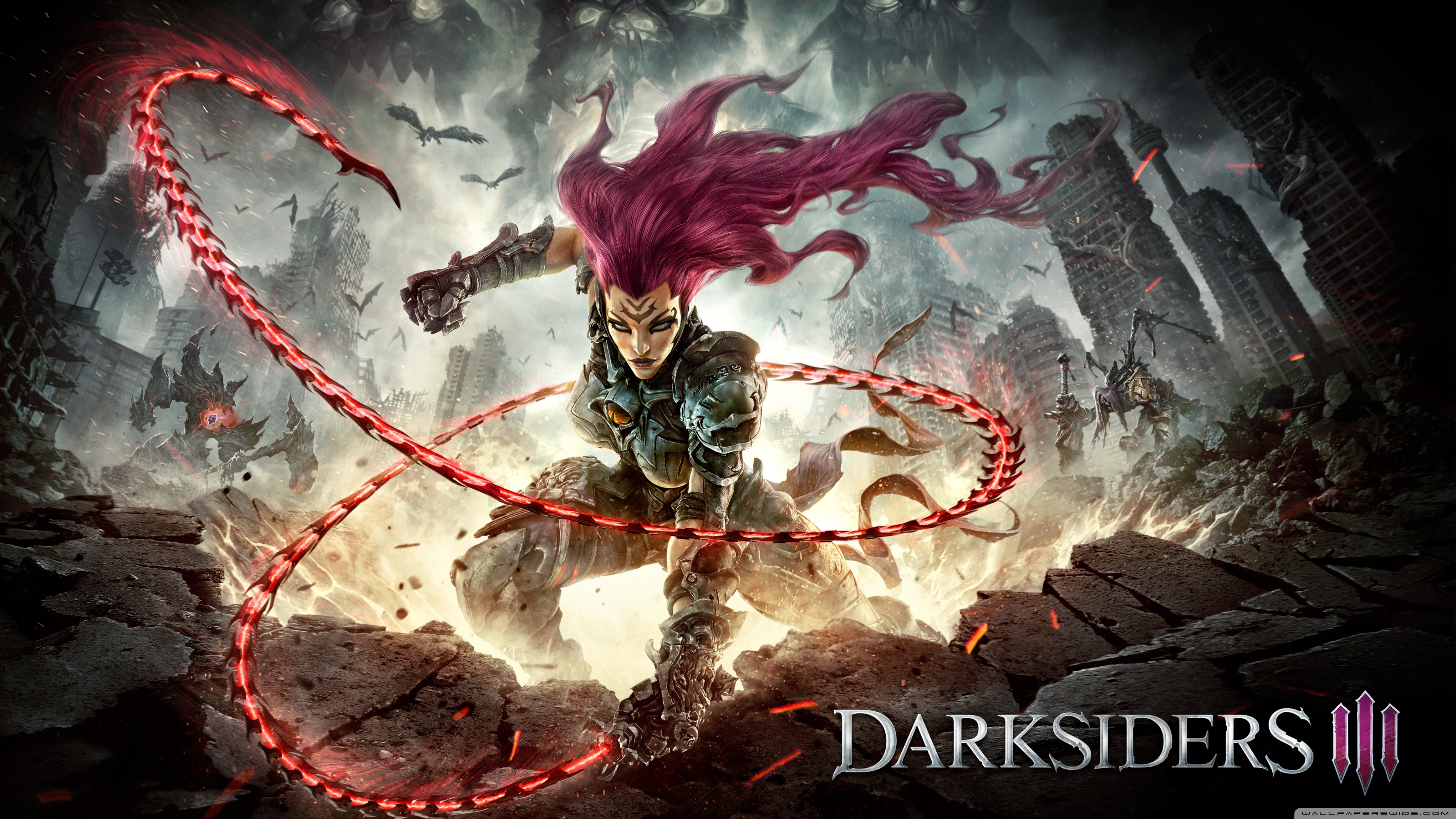 Fury DarkSiders III 4K HD Desktop Wallpaper for 4K Ultra HD TV 3554x1999