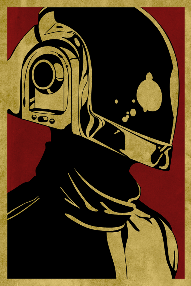 Obey Daft Punk   iPhone Wallpaper 640x960
