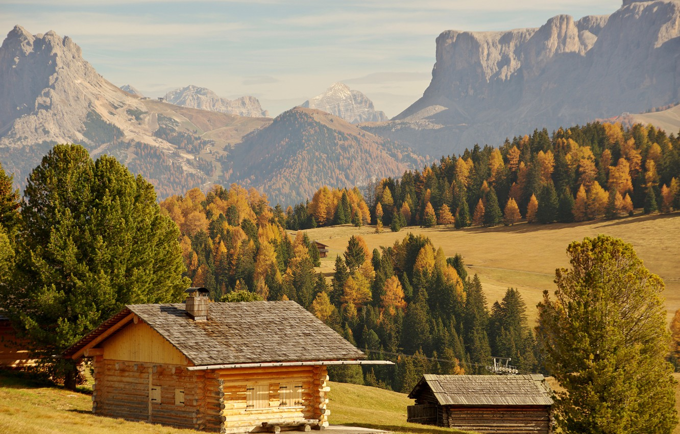 Wallpaper autumn forest the sun trees mountains rocks valley 1332x850
