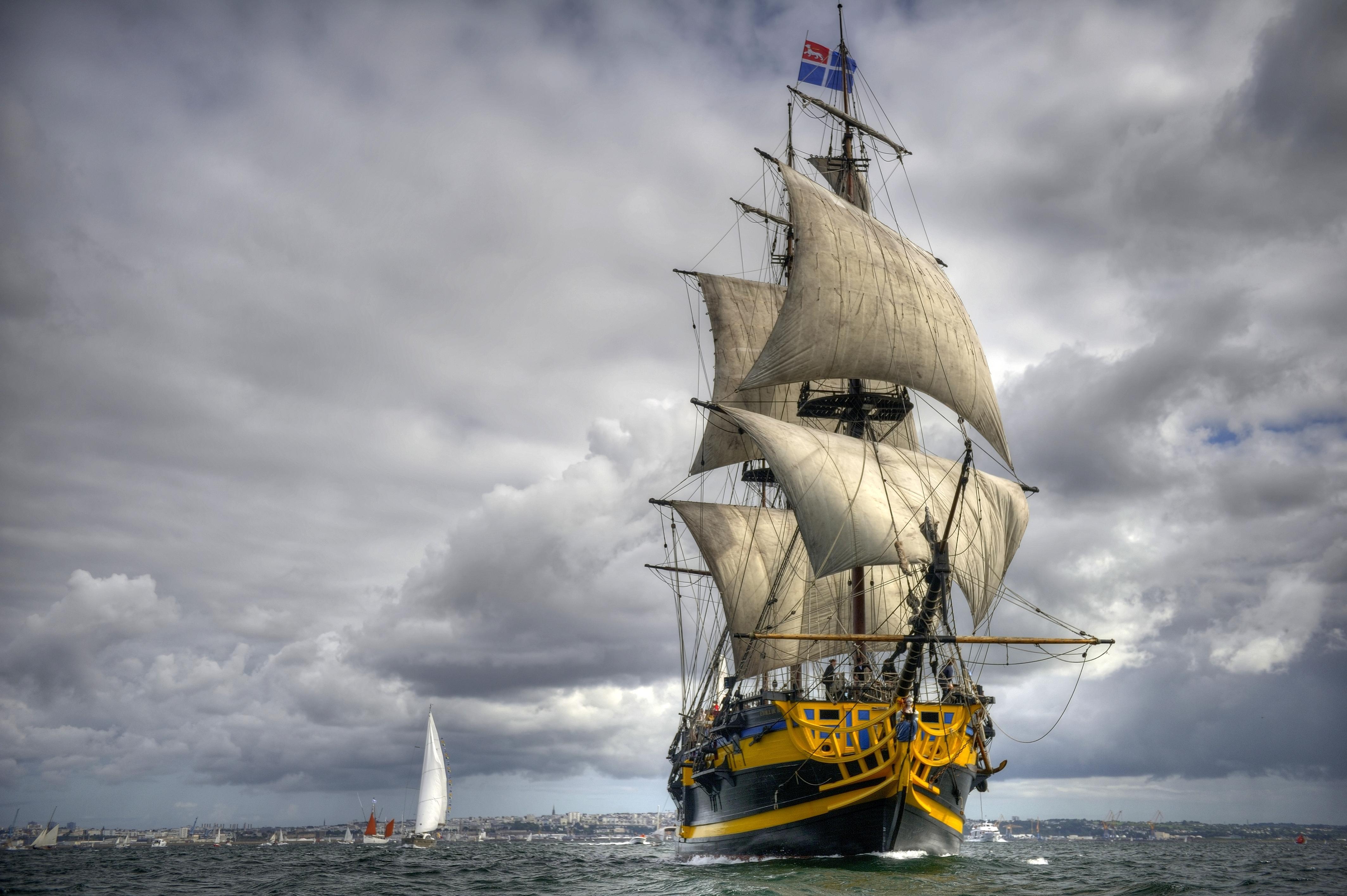 Sail Ship wallpaper 4255x2831 122015 WallpaperUP 4255x2831