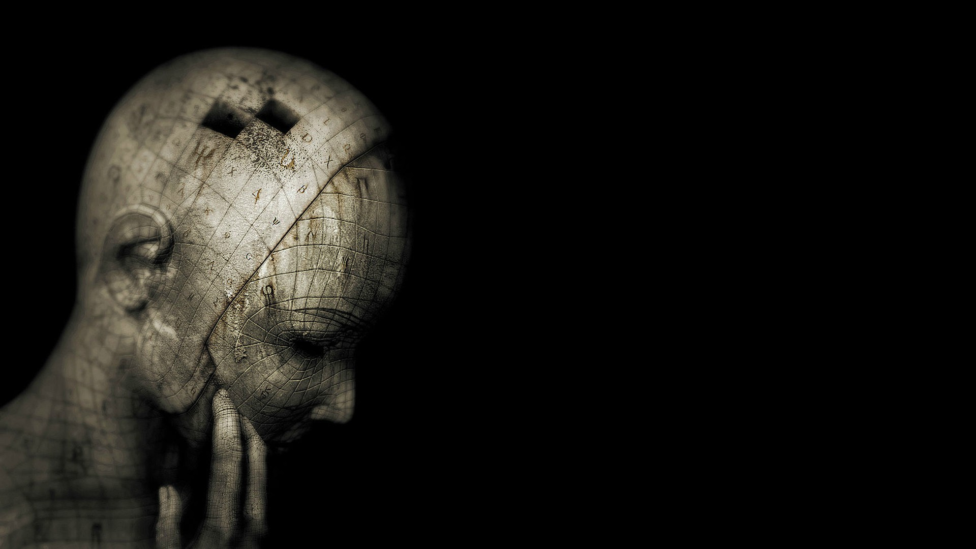 Head on a black background wallpapers and images - wallpapers ...